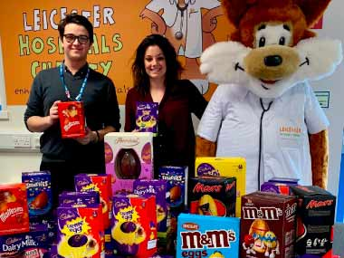 Leicester Hospitals Charity Easter Eggs Donations Line Up